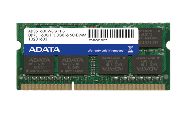 DDR3 1600 204 Pin SO-DIMM
